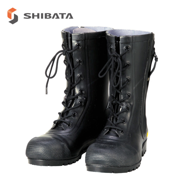 Safety Boots AF020  Rubber Half-Knee Boots for Firefighters SG201 / 安全長靴 AF020  消防団員用ゴム半長靴 SG201 (メンズ レディース)