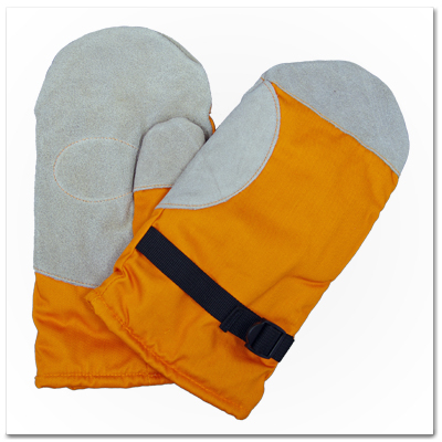 日本製 防寒手袋 2本指