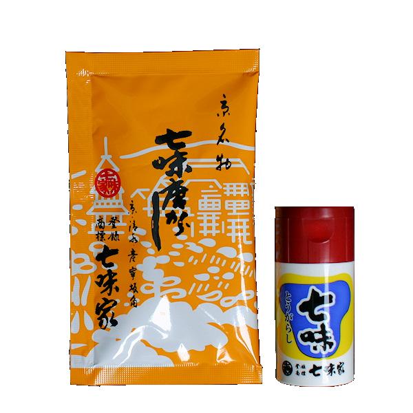 七味小袋(15g)、プラスチック容器付