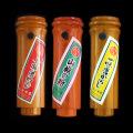 七味袋(15g)、山椒(10g)、一味(15g)&けやき竹型3本セット