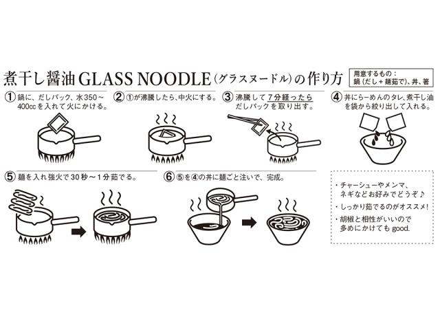 麺や七彩 煮干し醤油GLASS NOODLE(グラスヌードル)作り方