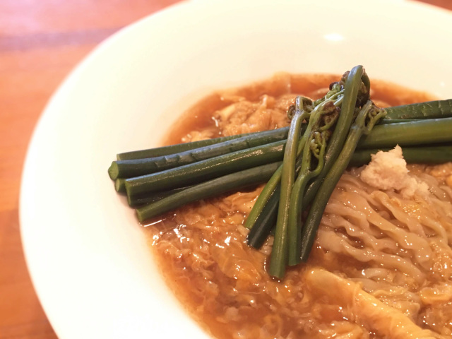 麺や七彩 マタギの極上天然ワラビラーメン