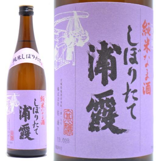 宮城県の日本酒,佐浦,浦霞,しぼりたて純米生酒720ml