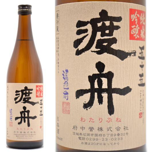 茨城県の日本酒,渡舟,純米吟醸五十五,720ml,通販