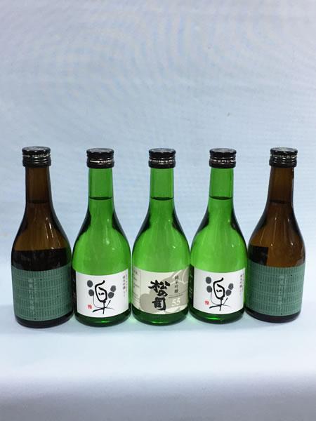 滋賀の地酒ギフトセット 松の司純米吟醸55 と 純米吟醸楽 と 萩乃露 雨垂れ石を穿つ300m