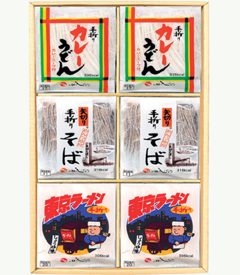 エ3 手折りめん3種 30入・各10個(そば・カレーうどん・しょうゆラーメン)
