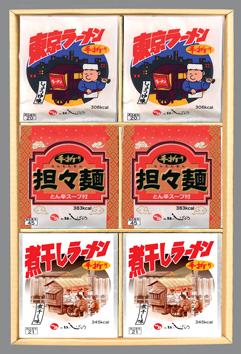 エ5 手折りラーメン3種 18入・各6個( しょうゆ・担々麺・ 煮干し )