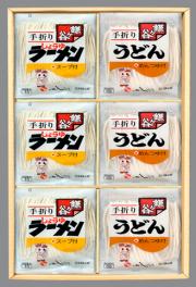 鎌ケ谷手折りめん 2種詰合せ 12入・各6個(うどん・ラーメン)