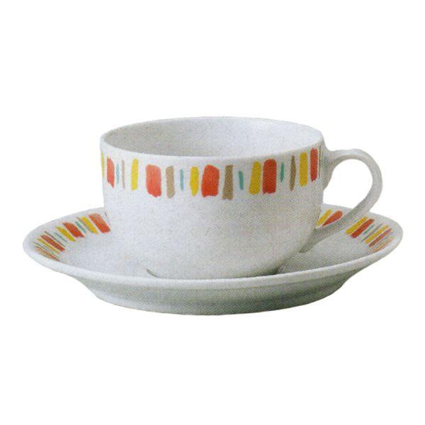 ティーカップソーサー イングレース オレンジ 洋食器 業務用食器 商品番号:3b537-15
