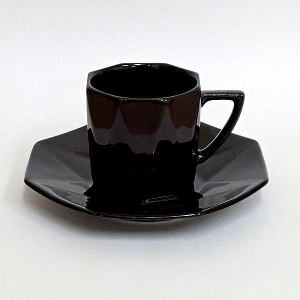 コーヒーカップソーサー 黒ダイヤ 洋食器 業務用食器 商品番号:3b538-03