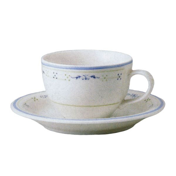 ティーカップソーサー ニューボン グレース 洋食器 業務用食器 商品番号:3b539-35