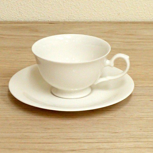 コーヒーカップソーサー 白 ニューボン 高台 洋食器 業務用食器 商品番号:3b542-11