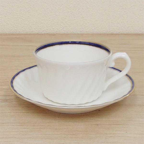 ティーカップソーサー ニューボン ブルー 洋食器 業務用食器 商品番号:3d64827-446