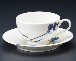 ティーカップソーサー ニューボン ブルーラン 洋食器 業務用食器 商品番号:3d65019-446
