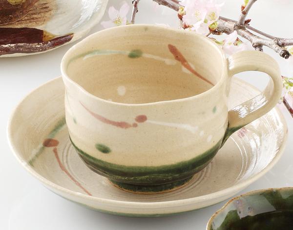 コーヒーカップソーサー 弥七田織部 陶器 和食器 業務用食器 商品番号:6a24-53