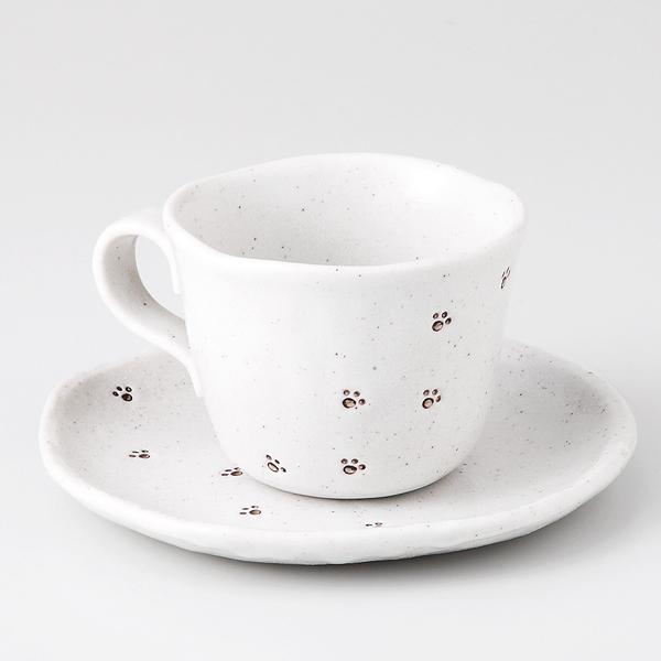コーヒーカップソーサー あしあと 陶器 和食器 業務用食器 商品番号:6a29-51