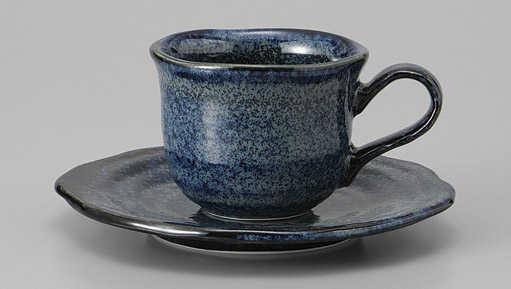コーヒーカップ ソーサー 窯変青釉