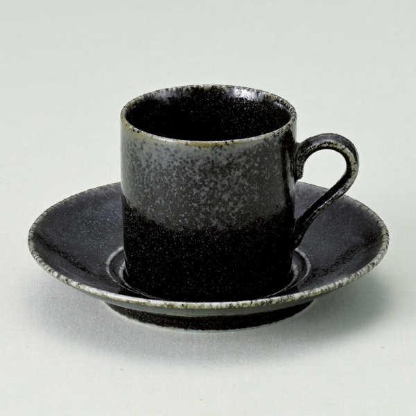 コーヒーカップソーサー 藍釉ロマン