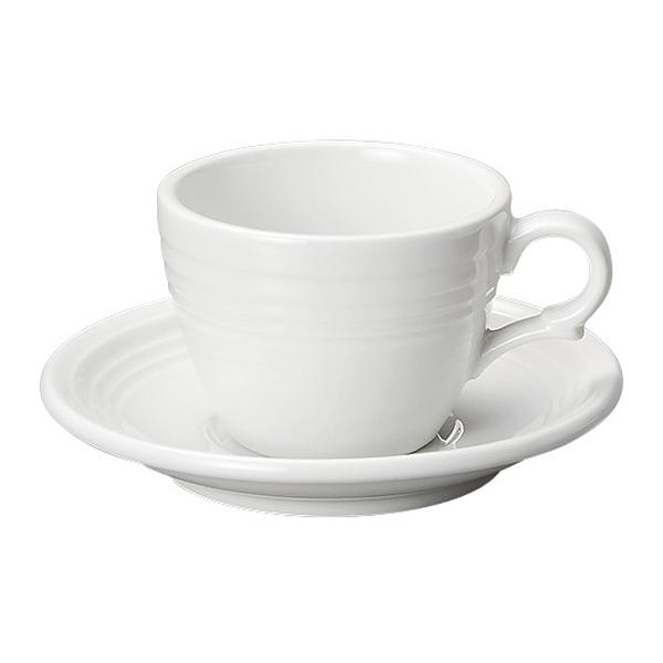 コーヒーカップソーサー ホワイト オービット