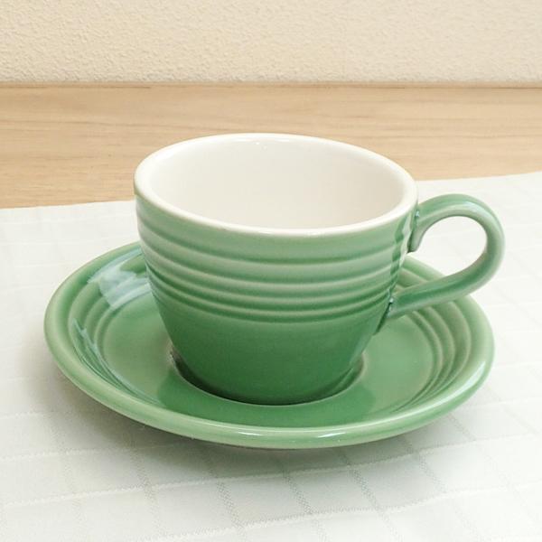 コーヒーカップソーサー グリーン オービット  洋食器 業務用食器 商品番号:k261252-261255