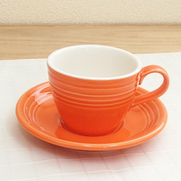 コーヒーカップソーサー オレンジ オービット  洋食器 業務用食器 商品番号:k261452-261455