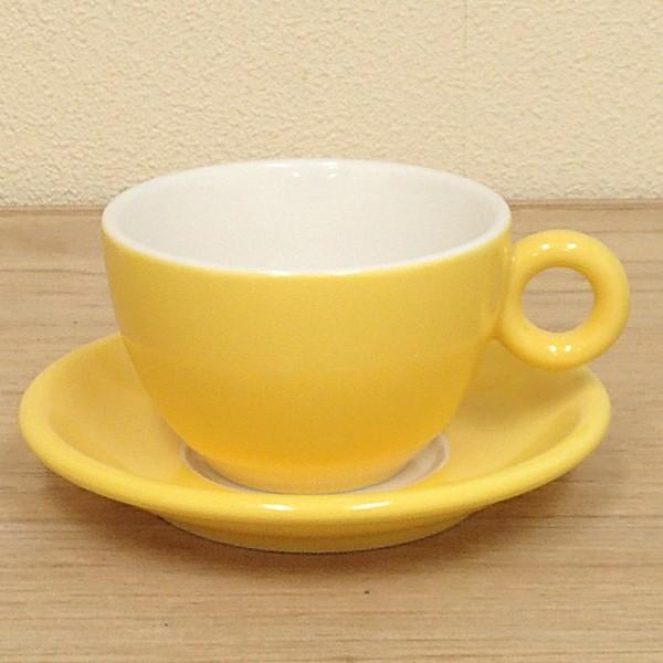 コーヒーカップソーサー イエロー ブリオ