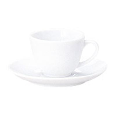 コーヒーカップソーサー ピュアホワイト フォンテ