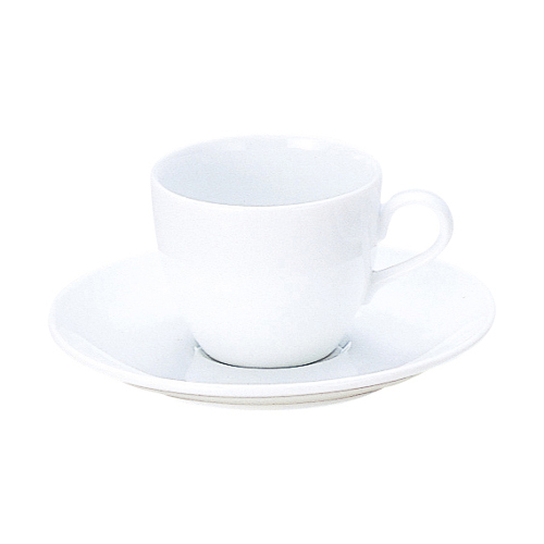 コーヒーカップソーサー  白 インパクト