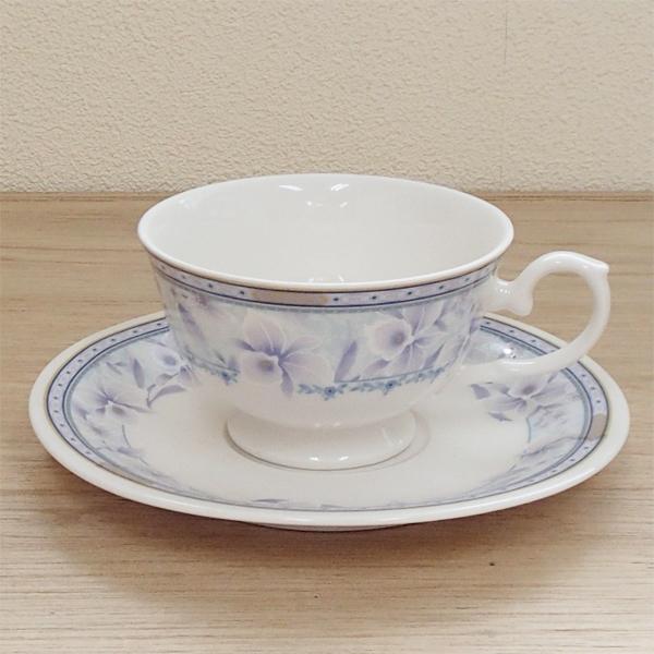 ティーカップソーサー ブルーブーケ 洋食器 業務用食器 商品番号:3b536-09