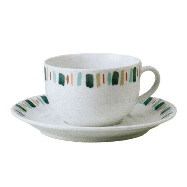 ティーカップソーサー イングレース ブルー 洋食器 業務用食器 商品番号:3b537-11
