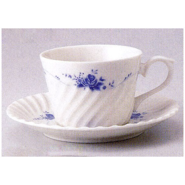 ティーカップソーサー ニューボン バラ 洋食器 業務用食器 商品番号:3b539-33