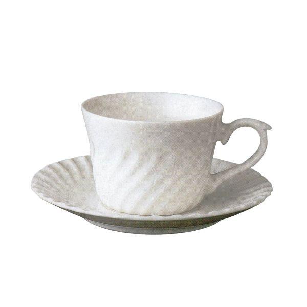 ティーカップソーサー ニューボン 500 ネジ 洋食器 業務用食器 商品番号:3b540-35