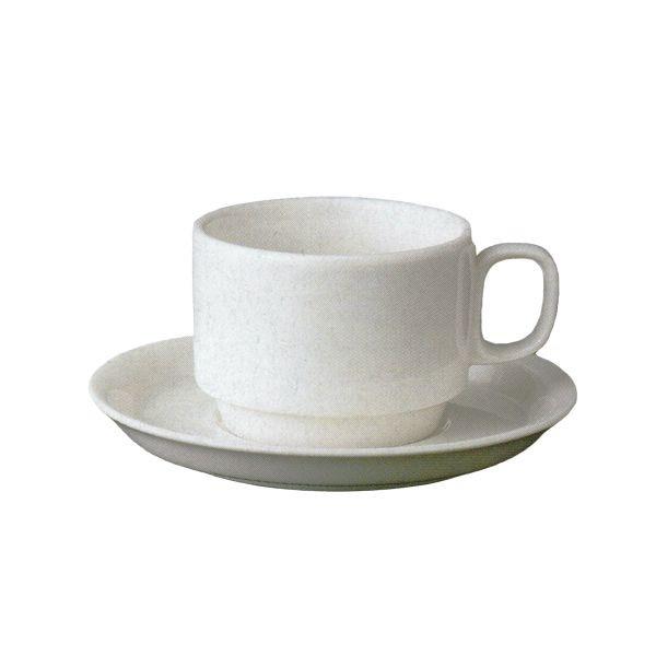ティーカップソーサー ニューボン スタック 洋食器 業務用食器 商品番号:3b541-11
