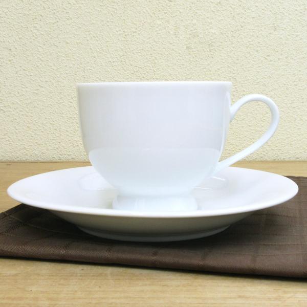 コーヒーカップソーサー 白 白磁ロマンス