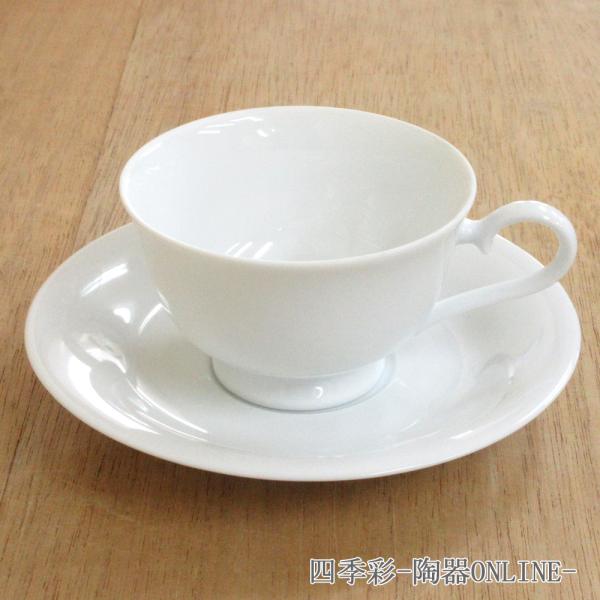 ティーカップソーサー 白磁 ロマンス 洋食器 業務用食器 商品番号:3b543-27