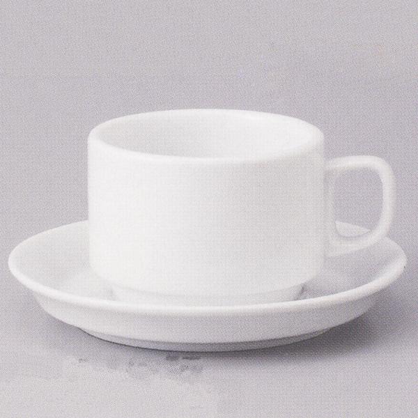 ティーカップソーサー 白 スタック 洋食器 業務用食器 商品番号:3b543-35