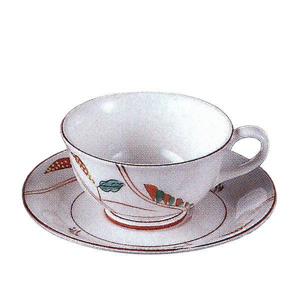 ティーカップソーサー 雅楽 手描き 洋食器 業務用食器 商品番号:3b590-14