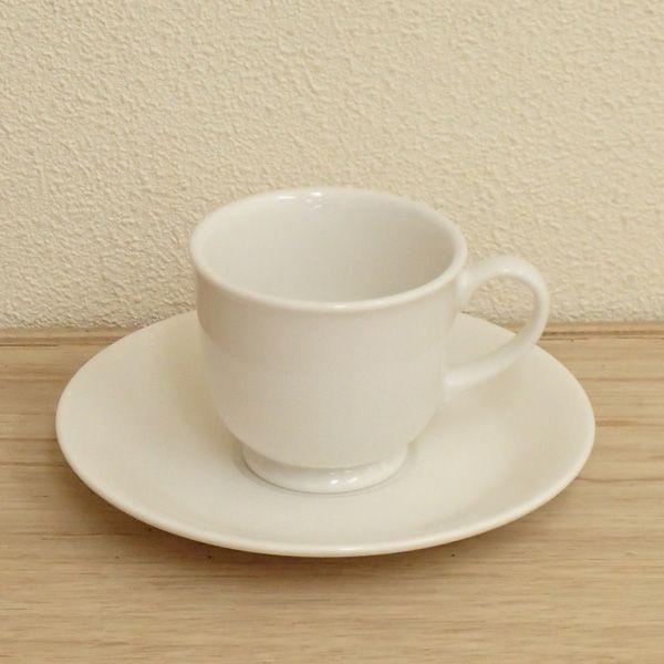 コーヒーカップソーサー 白 ニューボン ソアラ  洋食器 業務用食器 商品番号:3b592-17