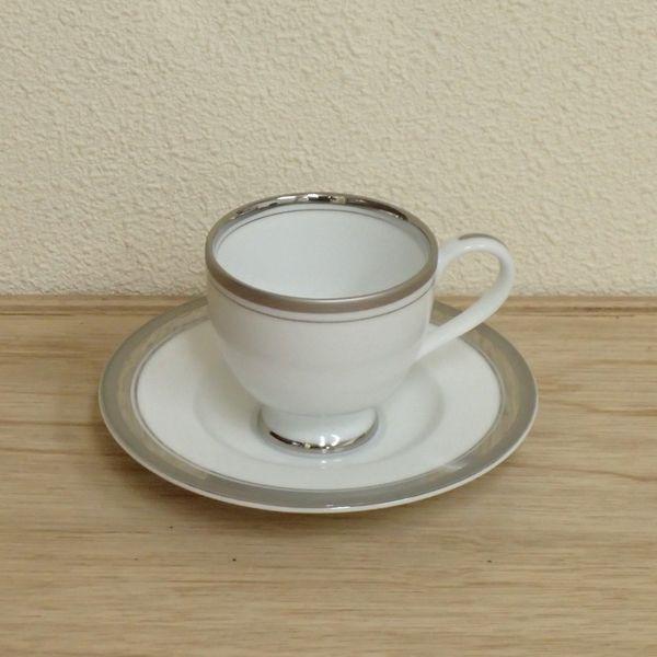 エスプレッソカップソーサー シルバーリッチ 洋食器 業務用食器 商品番号:3d62238-036
