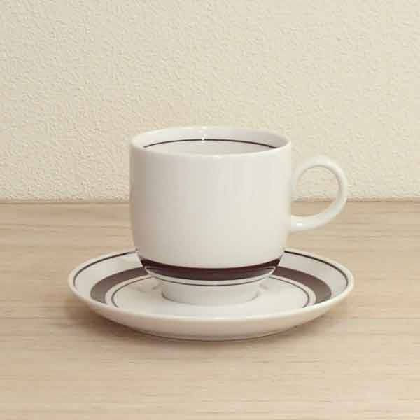 アメリカンコーヒーカップソーサー ストーン 茶線 洋食器 業務用食器 商品番号:3d64923-406