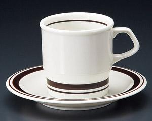 アメリカンコーヒーカップソーサー ホワイトブラウン 洋食器 業務用食器 商品番号:3d64929-406