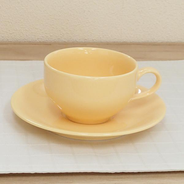 ティーカップソーサー サニーイエロー 洋食器 業務用食器 商品番号:3d64939-056