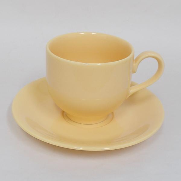 アメリカンコーヒーカップソーサー サニーイエロー 洋食器 業務用食器 商品番号:3d64941-056