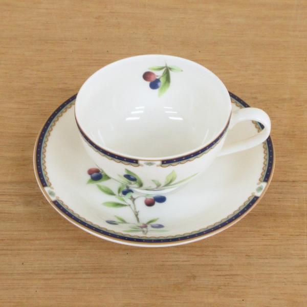 ティーカップソーサー ニューボン プルーン 洋食器 業務用食器 商品番号:3d65003-446