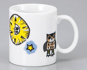 マグカップ 絵本 月 陶器 業務用食器 商品番号:3d66101-446