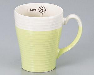 マグカップ I LOVE クローバー 陶器 業務用食器 商品番号:3d66110-406