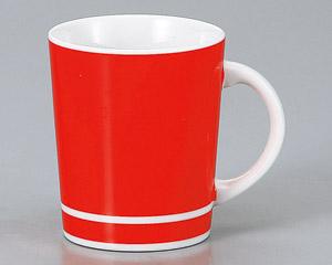 マグカップ チアー(レッド) 陶器 業務用食器 商品番号:3d66111-446
