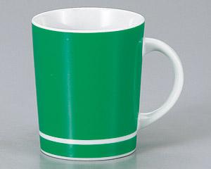 マグカップ チアー(グリーン) 陶器 業務用食器 商品番号:3d66112-446