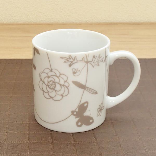 マグカップ ガーデン蝶 陶器 業務用食器 商品番号:3d66118-446