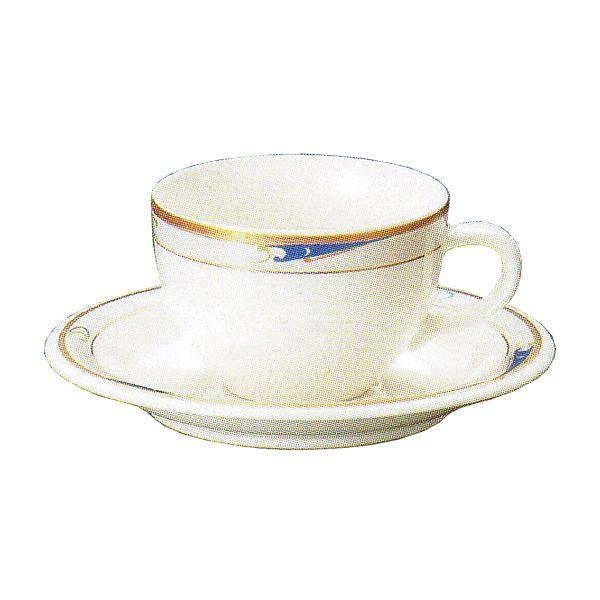 ティーカップソーサー ニューボン ブルーウェーブ 洋食器 業務用食器 商品番号:3y766-03-682